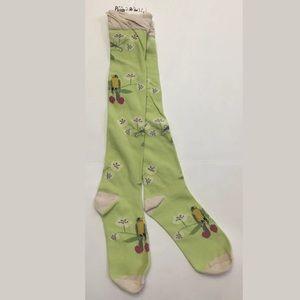 Peony & Moss Knee Socks, One Size